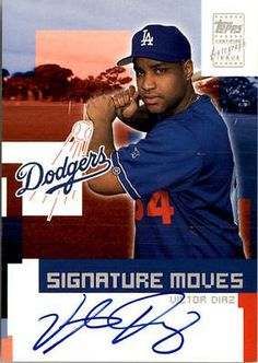 2002 Topps Traded Signature Moves #VD Victor Diaz AUTO