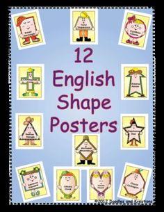 English Shape Posters $5.00