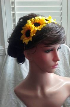 Check out this item in my Etsy shop https://www.etsy.com/uk/listing/522046548/sunflower-headband-fascinator