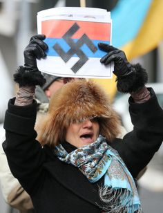 Toronto 2-3-2014: Demonstration against the Russian invasion of Ukraine.