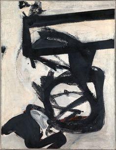 Franz Kline-Nijinsky, 1950. Enamel on canvas