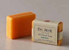All Natural Soap with papaya.  Gentle on face, hands and body.
