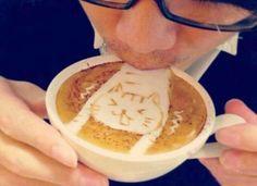 Creative latte art