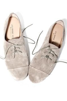 Grey oxfords! Love them, simple and cute!