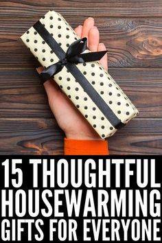 15 Housewarming Gift Ideas | Whether a close friend just rented her first apartment, a relative just bought their first home, or you've been invited to a housewarming party for a couple who just moved in together, this post has the best housewarming gift ideas for singles, couples, and families. These gifts go above and beyond traditional baskets and while some are practical, others make for unique, thoughtful, and meaningful keepsakes. Traditional Baskets, Best Housewarming Gifts, Moving In Together, Vegan Cookbook, Restaurant Guide, Home Scents, New Homeowner, Household Tips, Keepsakes