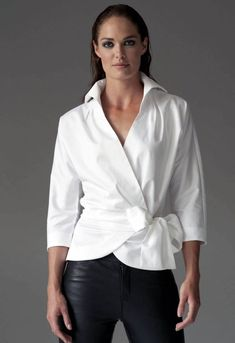 The Perfect White Shirt - By The Shirt Company - Avalon & Kelly - navy mens shirt, mens shirts casual, menswear shirt *ad Blouse Wrap, Wrap Shirt, Long Blouse, Classic White Shirt, Crisp White Shirt, Mode Pop, White Shirt Outfits, White Blouse Outfit, Corporate Wear