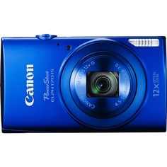 """With its 20.0-megapixel 1/2.3"""" CCD sensor and 25-300mm lens, this Canon PowerShot ELPH 170 IS digital camera makes it easy to capture realistic photos and 720p high-definition video footage. Optical image stabilization minimizes blurring and ghosting.  Memory card sold separately."""