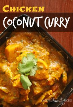 This is savory and slightly sweet-- the flavor combinations are simply perfect! #coconutcurryrecipe #chickencoconutcurry