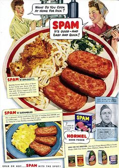 Spam for Victory! Published in the May 1943 issue of Woman's Day magazine.