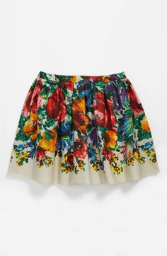 Dolce 'Fiori Colonna' Skirt (Little Girls & Big Girls) available at #Nordstrom