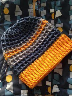 Motánky: Co uháčkovat chlapovi Mens Crochet Beanie, Crochet Baby Hats, Crochet Yarn, Crochet Clothes, Crochet Stitches, Knitted Hats, Crochet Patterns, Loom Knitting Projects, Crochet Winter