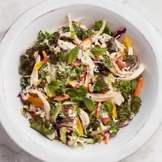 Chicken salad with rainbow slaw - Chatelaine