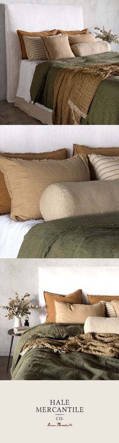 A pure European linen collection with an unrivalled earthy palette and designed with passion. Produced only in Europe and proudly represented around the globe. Home decor Hale Mercantile Co pure European Linen Home Bedroom, Bedroom Decor, Bedroom Signs, Decorating Bedrooms, Master Bedrooms, Bedroom Ideas, Estilo Interior, European Home Decor, Bed Runner