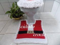 Croche- Jogo Banheiro Papai Noel- Tapete Do Vaso- Tutorial Completo - YouTube