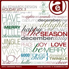 Holiday Word Art Vol. 03 - Photoshop Brushes DesignerDigitals