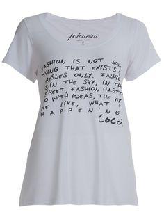 POLINESIA TEES Camiseta Branca Estampada.