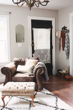 Thoughts from Alice: Fall Home Tour 2014 - Small Eclectic Entryway
