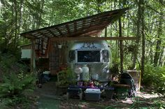 Shelter Porch Over Camper Rv Camping Pinterest