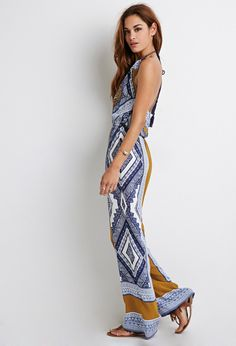 Abstract Print Halter Jumpsuit | Forever 21 - 2000133400
