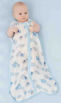 5d5dd3762981b Best Dressed Tot · Baby Gift Ideas · Your newborn boy will be dressed in  the softest of swaddle sacks in this whimsical elephant