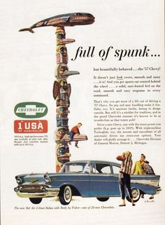 57 Chevy ad