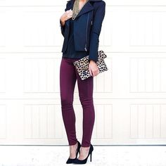 """Kate (For the Love of Fancy) on Instagram: """"This color for fall  these @jamesjeans skinnies and jacket are perfect!"""