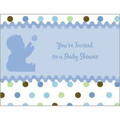 Tickled Blue Baby Shower Invitations with Envelopes 8ct by Party Express. $1.50. Package includes 8 invitations with envelopes.