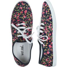 Ditsy Floral Tennis Shoe ($9.99) found on Polyvore