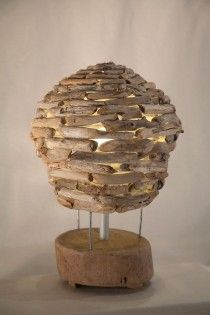 plàtan handmade driftwood lamp  natural design