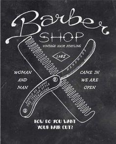Vintage Barber shop. Handmade Illustration. Fashion Print. danilo.de.donno@alice.it