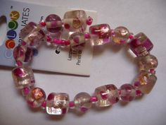 Bead Blue Moon Beads lampworked glass pink and by darlamarie23, $2.25