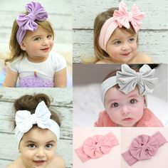 >> Click to Buy << Headband Girl Hair Accessories Cotton BB BebeHairband Head Wraps Hair Bow Headwear Solid Bow Bowknot #Affiliate