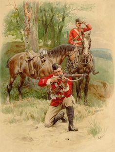 British Dragoons in Africa, Anglo-Zulu War British Army Uniform, British Uniforms, British Soldier, Military Art, Military History, Military Uniforms, Military Fashion, European History, British History