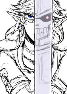 Link and Hero's Shade, two edges of the blade