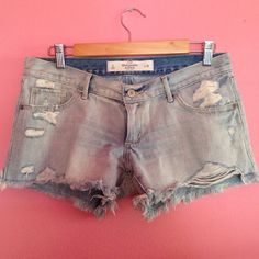 Abercrombie & Fitch light washed short A&F destress light washed denim short. Never been worn. Has 4 pockets. Abercrombie & Fitch Shorts Jean Shorts