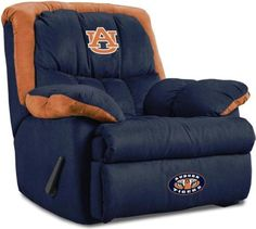 """Auburn Home Team Recliner- For the """"Man Cave"""" - forget the man cave how about a girls room! I want one!"""
