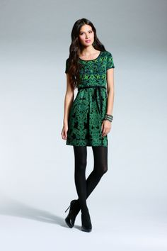 I would wear this to the office or just casually - would pair with high boots Jessica Simpson Bernni Fit And Flare Dress