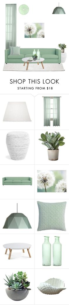 """""""Minty. Bright. Living-Room."""" by theartbug-home on Polyvore featuring interior, interiors, interior design, home, home decor, interior decorating, Martha Stewart, Torre & Tagus, CB2 and Rough Fusion"""