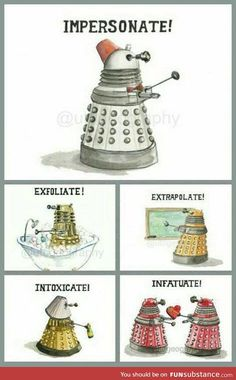 Funny pictures about The Rich Language Of A Dalek. Oh, and cool pics about The Rich Language Of A Dalek. Also, The Rich Language Of A Dalek photos. Brainstorm, Fandoms, Space Man, Serie Doctor, Doctor Who Funny, Doctor Who Dalek, My Sun And Stars, Supernatural, Don't Blink