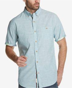 bc554c762d Weatherproof Vintage Men s Textured Dobby Pocket Shirt   Reviews - Casual  Button-Down Shirts - Men - Macy s. Camisa Casual Com BotõesHomens ...