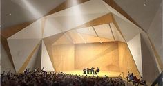 The Acoustical Design of UCSD's Conrad Prebys Concert Hall Concert Hall Architecture, Auditorium Architecture, Acoustic Architecture, Auditorium Design, Residential Architecture, Theatrical Scenery, Acoustic Design, Hall Interior, Hall Design