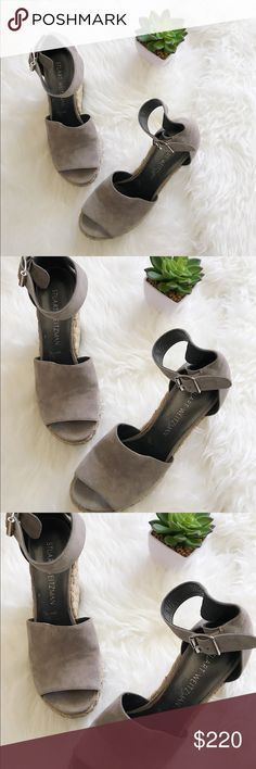 🎀 NEW! Stuart Weitzman The Sohojute Wedge NEW! Stuart Weitzman The Sohojute Wedge. Color is gray. No box included. I have a no smoke, no pet, no children household. Let me know if you have any questions at all. Thank you for viewing we appreciate it! Stuart Weitzman Shoes Wedges #stuartweitzmanwedge