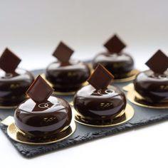 """Valencia"" Petit Gateaux chocolate mousse almond praline Cremeux almond…"