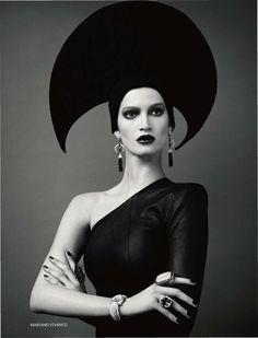 Vogue Russia April 2011: Marta Berzkalna in Russian Ornaments by Mariano Vivanco