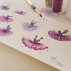 Remaining, limited number of embellished, Parisian tutu prints are available in my Etsy shop.