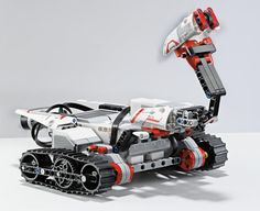 Lego Mindstorms EV3: The 3rd generation  of Lego's programmable robotics platform is designed to make it easier for both adults and kids to program robots. Out of the box, users will be able to build 17 different robots, including this one, Track3r! via cnet #Lego_Mindstorms_EV3 #CES
