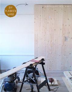 Wand met planken zelfmaken
