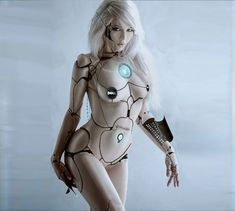 Photoshoped by ~PurpishPanter on deviantART, sexy girl, dell, cyborg, cyberpunk, robot girl, future, futuristic, cyber girl, cyberpunk girl, cyborg girl, robot, nude