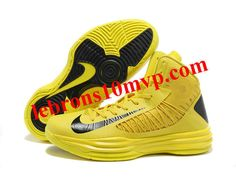 outlet store 7e99f 62b88 Nike Lunar Hyperdunk X 2012 James Shoes Yellow Black Baskets Nike, Running  Shoes Nike