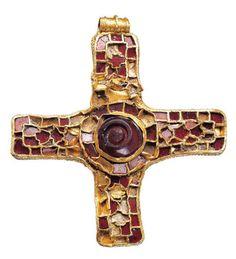 An Anglo-Saxon gold and garnet pectoral cross